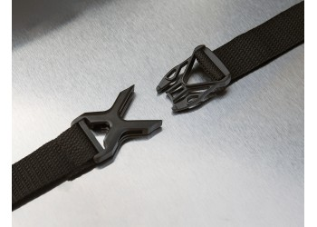 Attached straps & buckles hold cover in place